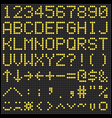 Digital scoreboard alphabet and numbers vector