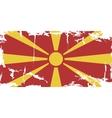Macedonian grunge flag vector
