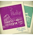 Italy hand drawn landscape in vintage style vector