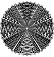 Black and white round ornament vector