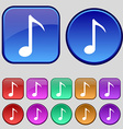 Music note icon sign a set of twelve vintage vector