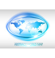 World abstract circle on white blue vector
