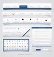 Web site navigation menu pack 4 vector