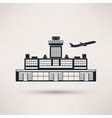 Airport building icon in the flat style vector