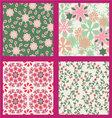 Floral set pattern summer vector