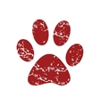 Red grunge animal logo vector