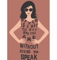 Woman in dress from quote vector