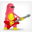Funny monster rock star vector