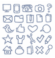 Hand drawn icons set vector