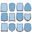 Badges blue vector