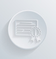 Circle icon diploma for the first place vector