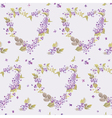 Spring hearts flowers backgrounds vector