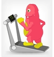 Funny monster gym vector