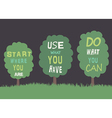 Trees with quotes vector