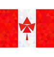Canada flag on a triangle style vector