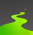 Green painting roller vector