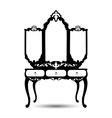 Silhouette of console mirror vector