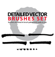 Brush strokes palette set of black tattered vector