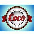 Coconut label vector