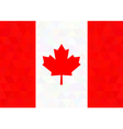 Canada flag on a triangle background design vector