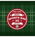 Sports bar menu template design vector