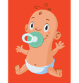 Baby with pacifiers vector