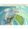 Save the earth eco poster vector