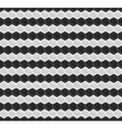 Black and white pattern hexagon mosaic vector