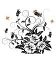 Bouquet of pansies vector
