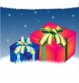 Background with gift vector