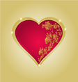 Heart with gold ornaments vintage vector