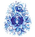 Blue flower in gzhel style vector