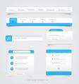 Web site navigation menu pack 2 vector