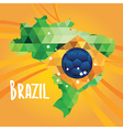 Poster soccer world game design concept brazil vector