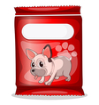 A packet of dogfood vector