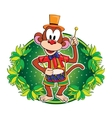 Funny monkey with a drum character vector