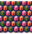 Seamless pattern with gift boxes for holidays vector