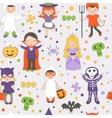 Halloween kids pattern vector