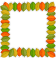 Frame of colored leaves vector