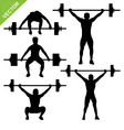 Weight-lifting silhouettes vector
