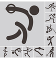 Set of athletics icons vector