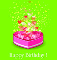 Happy birthday gift box vector