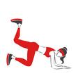 Girl practises fitness vector