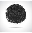 Round black oil pastel banner vector