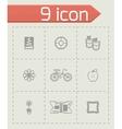Handmade icon set vector