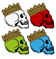 Skull king crown vector