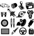 Car maintenance icons vector