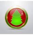 Christmas button vector
