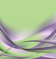 Colorful waves isolated abstract background light vector