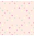 Tile polka dots on pastel pink pattern vector
